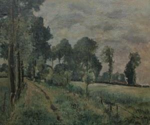 Maurycy Trębacz (1861-1941) Pejzaż z drogą do wsi