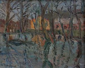 Włodzimierz Zakrzewski (1916-1992) Zabudowania nad wodą