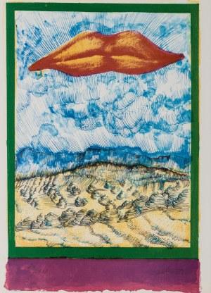 Jan Lebenstein, Kompozycja z ustami - Ilustracja do poezji Eugenio Montale: