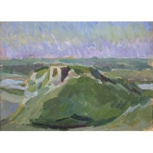 Stanisław KAMOCKI (1875-1944), Pejzaż z ruinami zamku – Czorsztyn ?, ok. 1910
