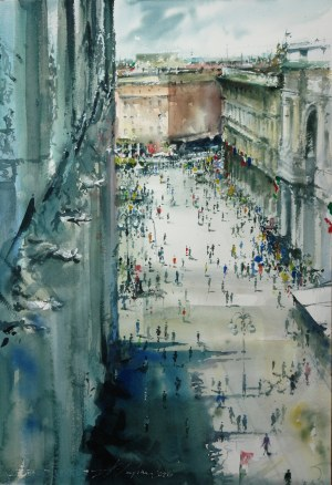Adam Papke, Milano Piazza del Duomo before