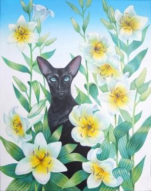 Svitlana Ulka, Kot orientalny w liliach, 2021