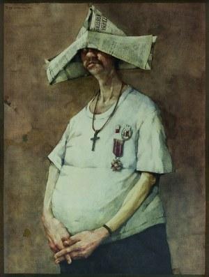 Jerzy Duda-Gracz ( 1941 - 2004), Autoportret ( Ora et colabora ) 1979/2021