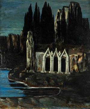 Bolesław Biegas (1877 Koziczyn - 1954 Paryż), Grota skał, 1924 r.