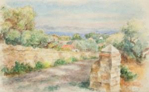 Józef Pankiewicz (1866 Lublin - 1940 Marsylia), Pejzaż z południa Francji, 1935 r.