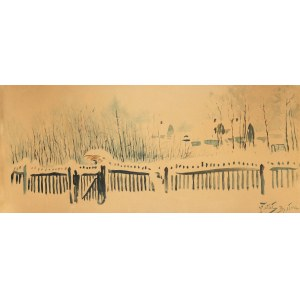 Julian Fałat (1853 Tuligłowy - 1929 Bystra), Spacer w Bystrej