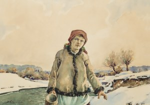 Stanisław Gibiński (1882 Rzeszów – 1971 Katowice), Przy strumieniu