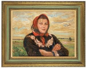 Wincenty Wodzinowski (1866 Igołomnia k. Miechowa - 1940 Kraków), Dziewczyna w czerwonej huście na główie
