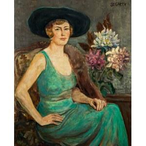 Stanisław Gałek (1876 Mokrzyska - 1961 Zakopane), Dama w zielonej sukni