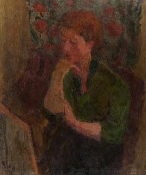Eugeniusz Eibisch (1896 Lublin - 1987 Warszawa), Portret kobiety podpartej na dłoni
