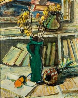 Zygmunt Menkes (1896 Lwów - 1986 Riverdale), Kwiaty w zielonym wazonie