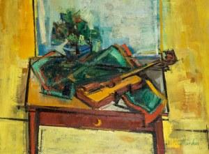 Zygmunt Menkes (1896 Lwów - 1986 Riverdale), Martwa natura ze skrzypcami