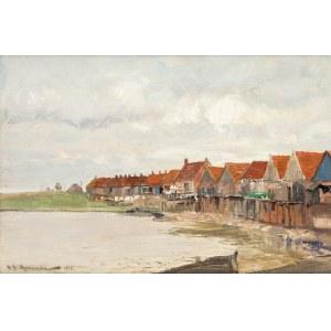 Michał Gorstkin Wywiórski (1861 Warszawa - 1926 Berlin), Wieś rybacka, 1919 r.