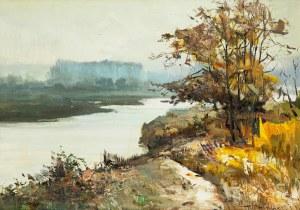 Henryk Baranowski (1932 Starogard Gdański - 2005 Gdynia), Jesienny pejzaż z rozlewiskiem