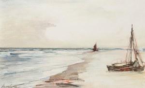 Marian Mokwa (1889 Malary - 1987 Sopot), Dwie łodzie na brzegu