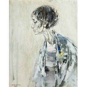 Maciej Lachur (1927 Zagórze – 2007 Otwock), Portret kobiety, 1984 r.