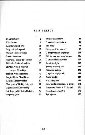 KALENDARZ DZIENNIKA POLSKIEGO 1992