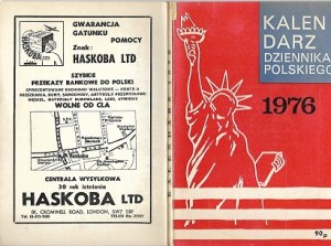 KALENDARZ DZIENNIKA POLSKIEGO 1976