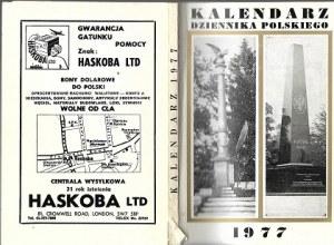 KALENDARZ DZIENNIKA POLSKIEGO 1977