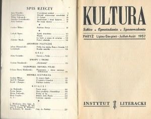 KULTURA Szkice, Opowiadania, Sprawozdania Nr.7/117-8/118 1957 CZESŁAW MIŁOSZ