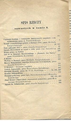 PRZEGLĄD POLSKI Rok X Zeszyt I Miesiąc Lipiec-Wrzesień 1875