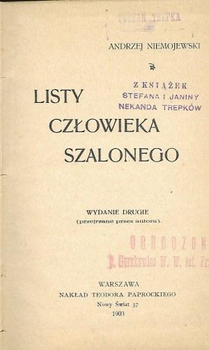 Niemojewski Andrzej LISTY CZŁOWIEKA SZALONEGO
