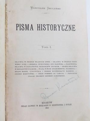 Smoleński Władysław PISMA HISTORYCZNE