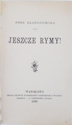 Kłopotowska Anna Jeszcze rymy