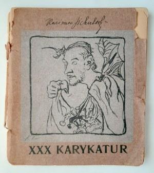 Sichulski, XXX karykatur 1904 r. Litografie