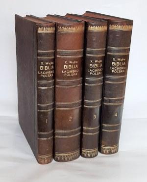 Wujek, Biblia łacińsko-polska T. 1-4, Wilno 1907 r.