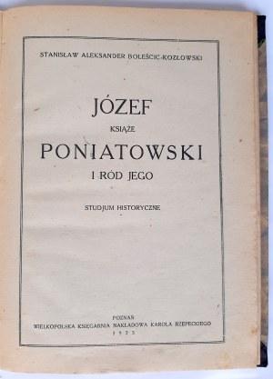 Boleścic-Kozłowski, Józef Książe Poniatowski i ród Jego