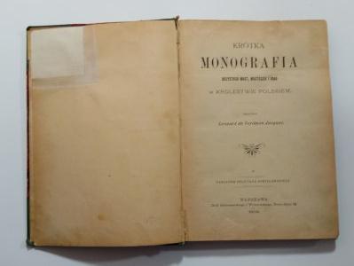 Krótka monografia wszystkich miast, miasteczek i osad, 1902 r.