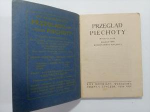 Przegląd Piechoty. Zeszyt 1 Styczeń 1936 r..