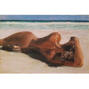 Tomasz Włodarczyk (ur. 1962), Akt na plaży, 2020