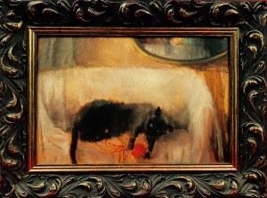 Alfons Karpiński, Bawiący się kot