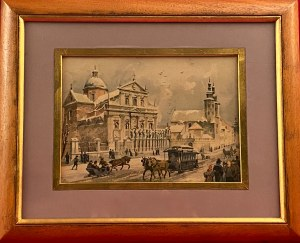 Juliusz Kossak i Stanisław Tondos, litografia barwna
