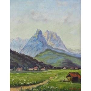 Władysław Jahl (1886 Jarosław – 1953 Paryż), Pejzaż alpejski, 1947 r.
