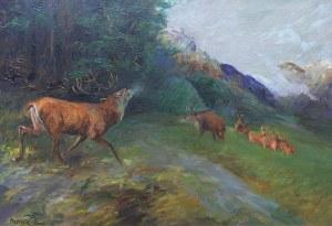 Artur Markowicz (1872 Kraków –1934 tamże), Jelenie na rykowisku