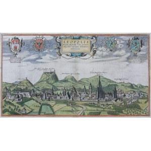 Georg Braun (1541-1620), Frans Hogenberg (1535-1590), Leopolis Russice Australis urbs primaria…