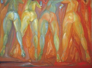 Romuald ORAMUS (ur. 1953), Cztery Gracje, 1988