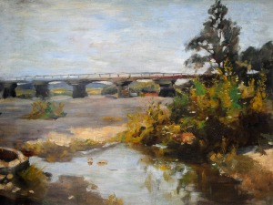 Stanisław KAMOCKI (1875-1944), Most na Skawie koło Zatora,ok. 1900