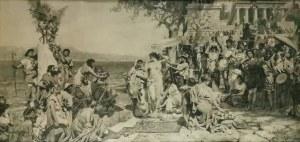 Henryk SIEMIRADZKI (1843-1902), Fryne na święcie Posejdona w Eleusis