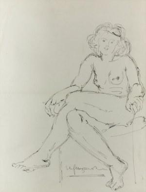Stefan MROŻEWSKI (1894-1975), Akt siedzącej kobiety