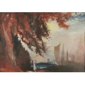 Antoni GAWIŃSKI (1876-1954), W przystani [Pejzaż morski], 1933