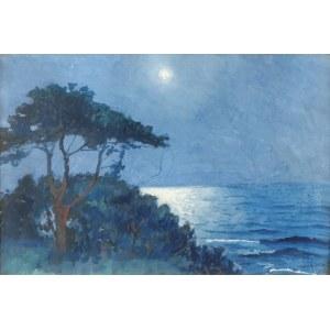 Soter JAXA MAŁACHOWSKI (1867-1952), Nokturn nadmorski, 1941