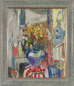 Judyta SOBEL (1924-2012), Wnętrze z bukietem kwiatów