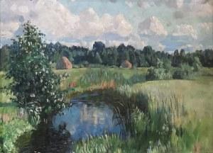 Stanisław ŻUKOWSKI (1873-1944), Pejzaż z okolic Puszczy Świsłockiej, przed 1928