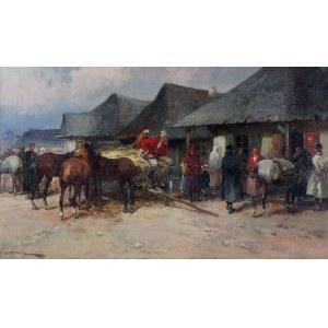 Adam SETKOWICZ (1876-1945), Przed karczmą, ok. 1918