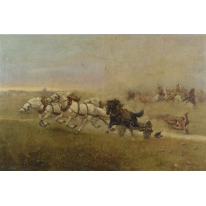Zygmunt  AJDUKIEWICZ (1861-1917), Epizod z Potopu szwedzkiego