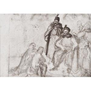 Maurycy GOTTLIEB (1856-1879), Król Sobieski, szkic ołówkiem